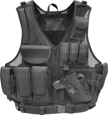 Firepower® Deluxe Tactical Vest Black