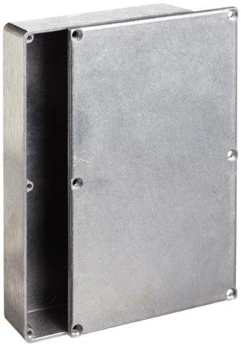 "Bud Industries Cu-477 Aluminum Econobox, 7-3/8"" Length X 4-11/16"" Width X 1-1/2"" Height, Natural Finish"