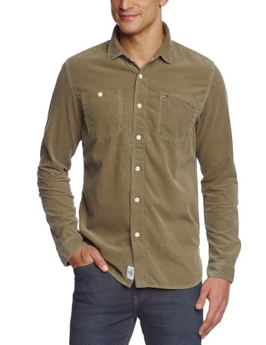 Hilfiger Denim Men's Fratney Shirt L/S / 1957818921 Casual Shirt Grey (383 Sludge Green) 48