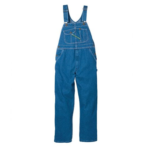 Key Apparel Men's High Back Bib Overall, Indigo, 32x30