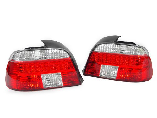A Pair Of Depo Red And Clear Lense Led Tail Lights - Bmw 5-Series E39 4Dr 1997-2000