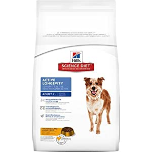 Hill's Science Diet Mature Adult Active Longevity Original Dry Dog Food Bag, 33-Pound