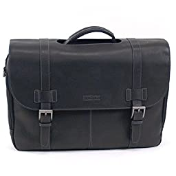 Kenneth Cole Reaction Columbian Leather Portfolio, Briefcase in Black