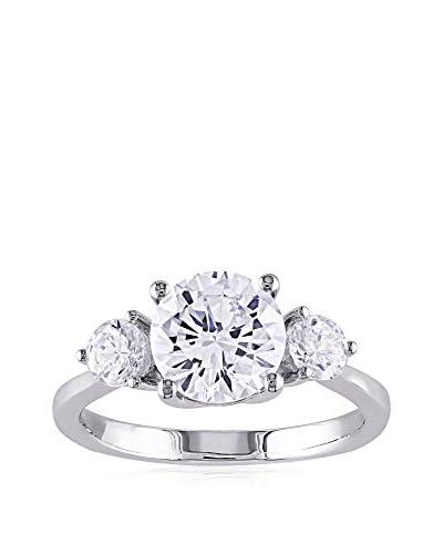 Sophia B. Sterling Silver 3-Stone CZ Engagement Ring
