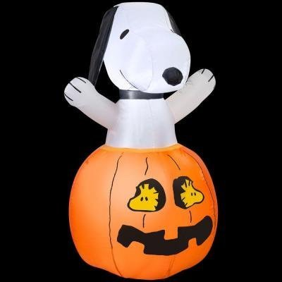 HALLOWEEN DECORATION YARD LAWN GARDEN INFLATABLE SNOOPY IN PUMPKIN 36 TALL by HALLOWEEN INFLATABLES at The Neighborhood Corner Store