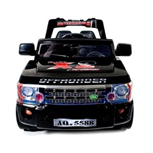 KIDS BLACK RIDE ON 12V JEEP WITH REMOTE CONTROL N012A