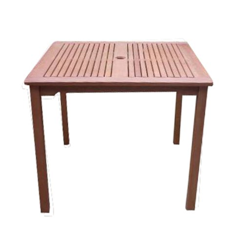 VIFAH V1104 Ibiza Outdoor Wood Stacking Table, Natural Wood Finish, 35-1/2 by 35.4 by 29-1/2-Inch picture