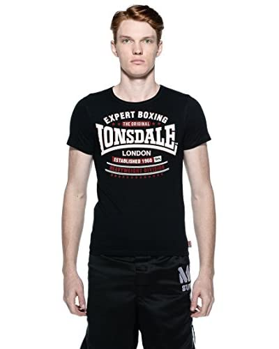 Lonsdale T-Shirt Swansea [Nero]
