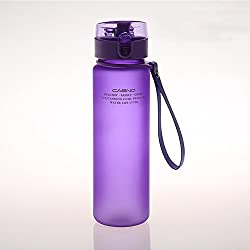 Sanberd Sports Water Bottle With Leak Proof Flip Top Lid - Eco Friendly & Non Toxic BPA Free Tritan Plastic 19OZ 560ML