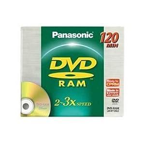 Panasonic DVD-RAM 4.7GB, 3X Speed DVD discs - Pack 15