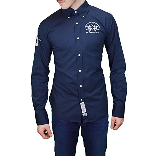 la-martina-camisa-casual-para-hombre-azul-xx-large