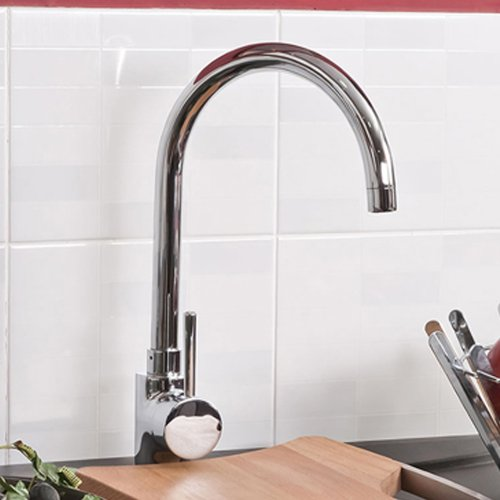 Avon Chrome Plated Brass Kitchen Sink Mixer Tap with Swivel Spout TK132