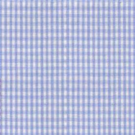 Gingham Moses Basket Sheets - Set Of 12 - Color: Light Blue front-1026731