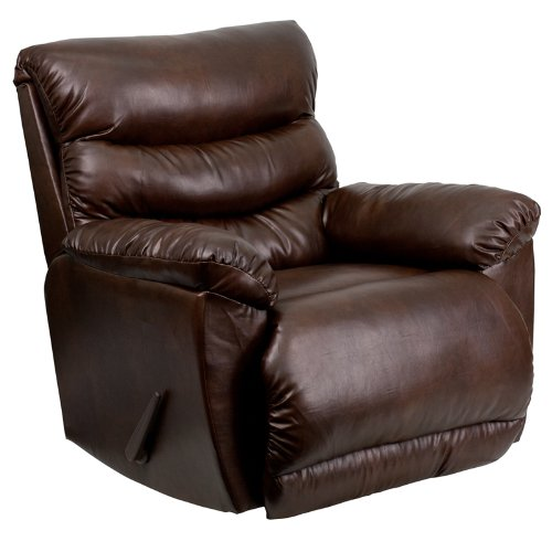 Contemporary Tonto Espresso Bonded Leather Rocker Recliner (Espresso Leather Recliner compare prices)