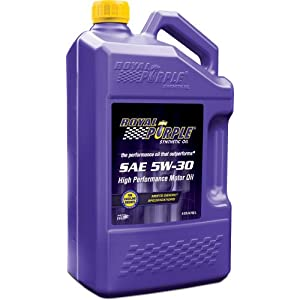 Royal Purple 51530 API-Licensed SAE 5W-30 High Performance Synthetic Motor Oil - 5 Quart Jug