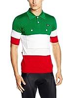 Santini Polo Campione Italia Heritage Series (Blanco / Verde / Rojo)