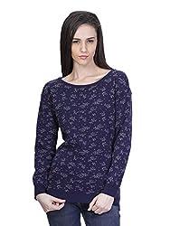 Kalt Women's Cotton Sweater (W137 XL _X-Large_Grey::Navy)
