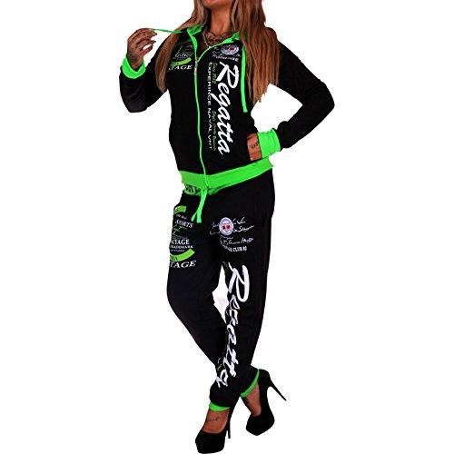 Violento -  Tuta da ginnastica  - Donna nero-verde M