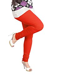 Lux Women Cotton Leggings -Scarlet -Free Size