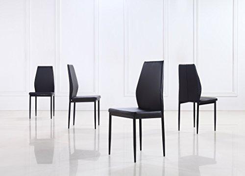 set von 4 k chenst hlen m belideen. Black Bedroom Furniture Sets. Home Design Ideas