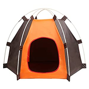 LIVEHITOP Portable collapsible Foldable Pet Tent Waterproof Durable Dogs Cats Bed House for Indoor Outdoor Yard Garden Travel Camping