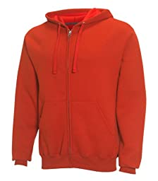 Fruit of the Loom Best Collection™ Men\'s Fleece Full Zip Hood XXX-Large FIRE HYDRANT /CHARCOAL HEATHER