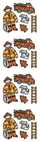 Jillson Roberts Prismatic Stickers, Mini Firefighter, 12-Sheet Count (S7258)