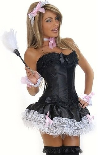 Daisy Corsets 6 PC Sexy French Maid Costume