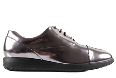 Hogan women's classic leather lace up laced formal shoes