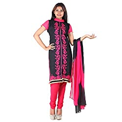 RangoliSF Woman's Cotton Unstitched Dress Material (RSFG1413 Pink)