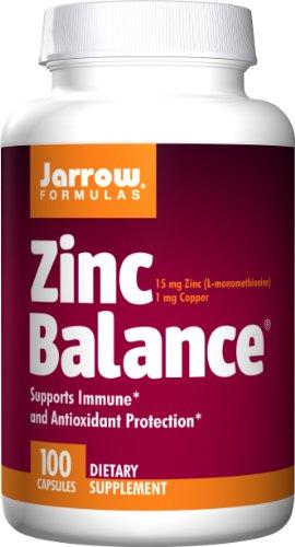 Jarrow Formulas Zinc Balance 15mg, 100 Capsules (Pack of 3)