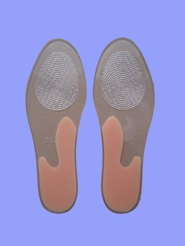 Full Length Insoles With Longitudinal Arch Support-100% Medical Grade Silicone Gel