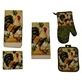 Lovely New Rooster Kitchen Towel Set