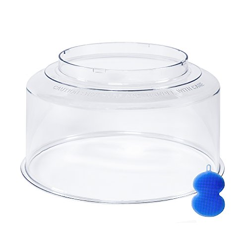 NuWave Oven Dome Replacement Clear Plastic Top Cover Accessory for NuWave Oven Pro, Pro Plus and Elite models including Infraovens Models, Bundles with Blue Silicone Dish Scrubber - Big Durable Dome (Nuwave Oven Parts And Accessories compare prices)