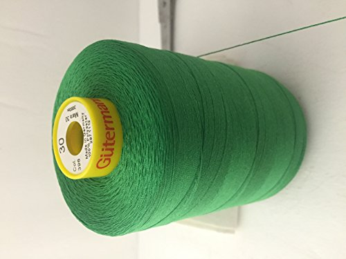 Gutermann Strong Sewing Thread in Mara 30,-3280 yards polyester ,Color Emerald Green #396,Top Stitch , Buttonhole , Carpet Mara 30. (Serger Thread Gutermann compare prices)