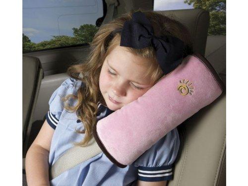 シートベルト枕 子供に最適 シートベルトパッド クッション ドライブ カーグッズ (ピンク)