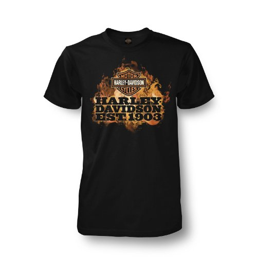 Harley-Davidson Kandahar Fire T-Shirt Mens - XL/Black