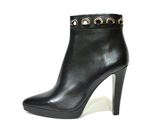 Bruno Premi D5910P tronchetto donna alla caviglia in pelle nero tacco alto a spillo n° 38