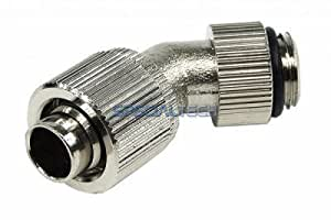 "1/4"" Thread Rotary 45 Degrees Compression Fitting for 3/8"" ID - 1/2"" OD Tubing : Silver"