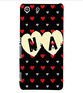 ColourCraft Love Design Back Case Cover for SONY XPERIA M5 E5603 / E5606 / E5653