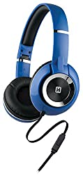 iHome On-Ear Foldable Headphones with Mic and Remote - Blue (IB46LBC)