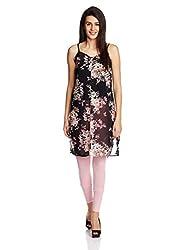 Anaphora Women's Body Blouse Shirt (56958A_Floral Print_XL)