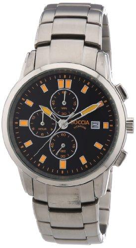 Boccdia Herren-Armbanduhr XL Chronograph Quarz Titan 3763-03