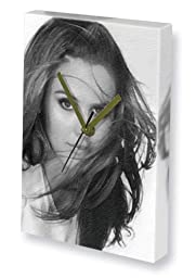 ALICIA SILVERSTONE - Canvas Clock (LARGE A3 - Signed by the Artist) #js002