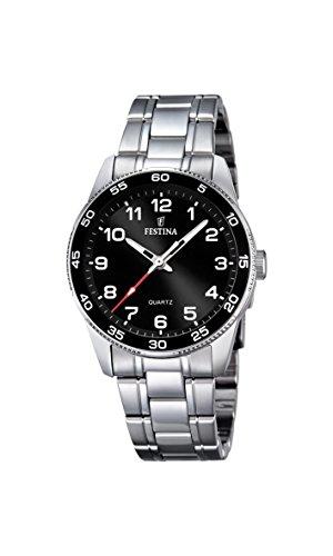 Festina Reloj unisex de cuarzo con Negro esfera analógica pantalla cuarzo acero inoxidable F16905/4