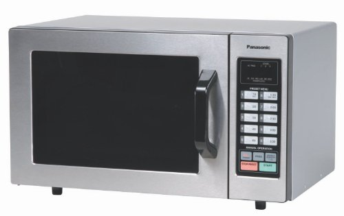 "Panasonic Ne-1054F ""Nsf"" Approved 0.8 Cuft Stainless Steel Commercial Microwave Oven, 1,000 Watts And Touch Control Keypad"