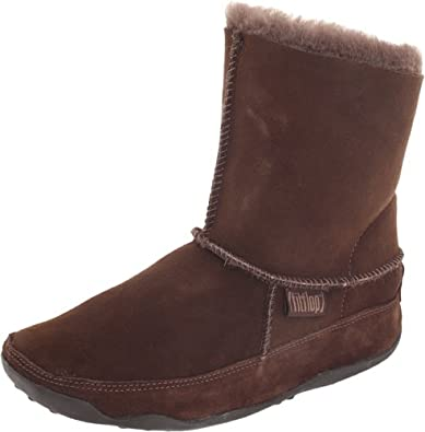 FitFlop Women's Mukluk Boot,Chocolate,9 M US