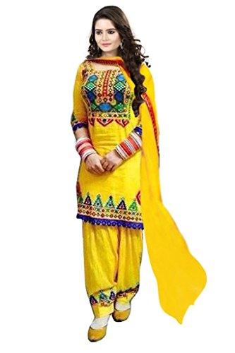 Janasya-Womens-Yellow-Polyester-Unstitched-Dress-JNE0930-DRE-YELLOW