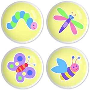 Kids Drawer Knobs - Flowerland Collection (Set of 4)