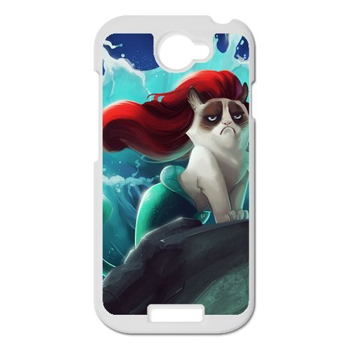 Generic Cell Phones Cover For Htc One S Case Cute Animals Grumpy Cat Face Pattern Custom Made Hard Snap On Phone Cases front-952247